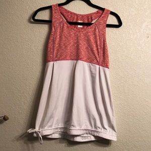 Lucy Athletic Pink and White workout Tank size M